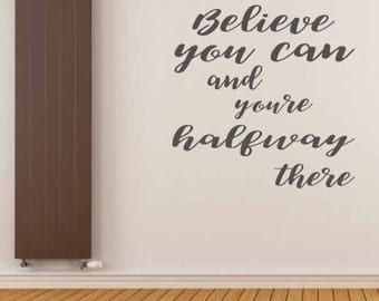 Inspirational quote for wall - quote wall stickers - home decor - office decor - wall art quote -wall decals - vinyl sticker - quotes -