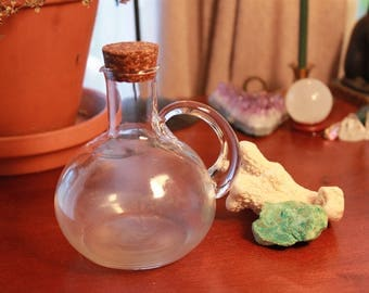 Round Bottle with Cork Lid - Witch Bottle - Potion - Oils - Storage - Wicca - Pagan - Decor