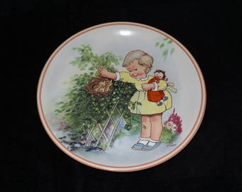 """1988 Davenport Attwell's Silver Linings """"How Good Of God"""" Collector Plate by Mabel Lucie Attwell"""