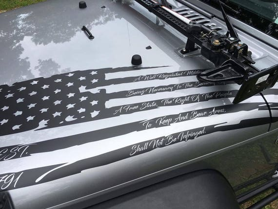 2nd Amendment American Distressed Flag Decal Back Window