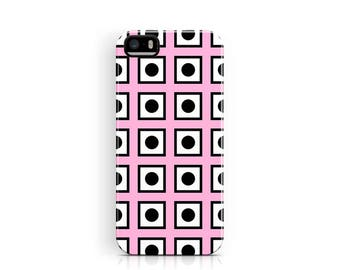 iPhone 5S Case, Grid Phone Case, iPhone 5c case, Grid iPhone 5 Case, Squares iPhone Cases, Pink iPhone 5S Cover, Protective iPhone 5 Case