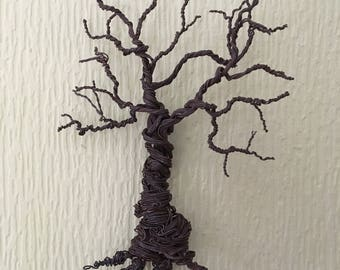 Handmade Wall Mounted Wire Tree Hanging with Roots