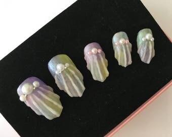 Shell nail art Press on nail