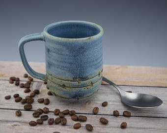 Ceramic Handmade Mug, Handmade Mug, Ceramic Coffee Mug, Coffee Cup, Studio Pottery Mug, 12 oz
