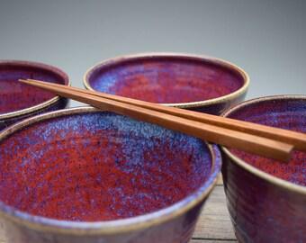 Handmade Ceramic Bowl, Ceramic Bowls, Bowl Set of 4, Set of four Bowls, for Soup, Salad, Rice