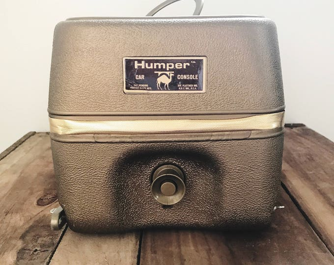 Vintage Gold Humper Car Console Cooler