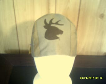 Deer Hat - 4 Panel - Size 6 7/8 - 22 inches - Welding, Pipefitter, Hunting, Working Man, Cotton Hat