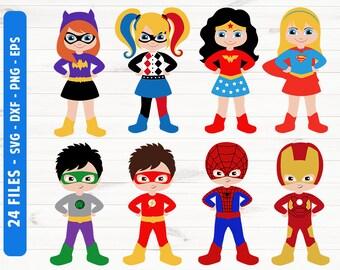 Super hero SVG Super hero girls Super hero clipart Commercial use svg