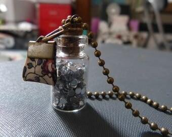 Necklace vial & mosaic bias