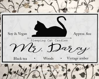 Mr. Darcy  - Pride and Prejudice Inspired Handmade Bookish Literary Soy Candle