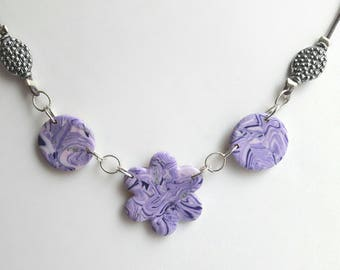 Mauve and purple designer jewelry necklace