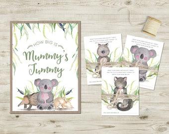 Australian Wildlife Baby Shower Printable Games Pack