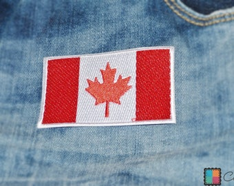 Patch/Ironing-Canada flag-red-7.4 x 4.9 cm-by catch-the-Patch ® patch appliqué applications for ironing application patches patch