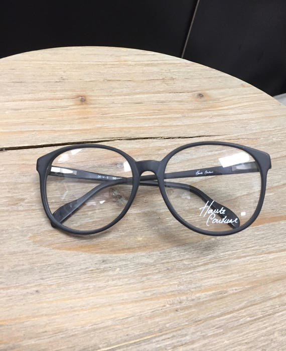 Vintage Dead Stock Haute Couture Black Framed Glasses