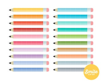 Color Pencil Clipart for Commercial Use - C0096