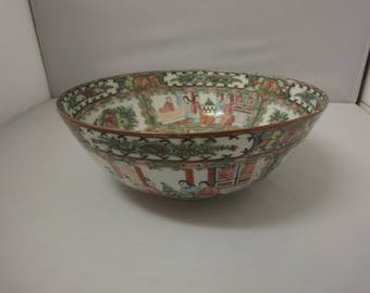 Large Cantonese Famille Rose Footed Bowl   dia 26cm   height 13cm