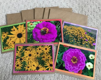 Set of Flower Note Cards