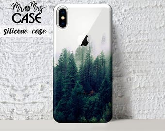 Forest iPhone X Case-Clear Silicone iPhone 8 Case-iPhone 7 Plus-Clear Case-Clear iPhone 6S Case-iPhone 10 Case-iPhone 8 Plus Case-phone case