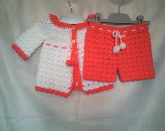 Crochet Baby Coat & Pants