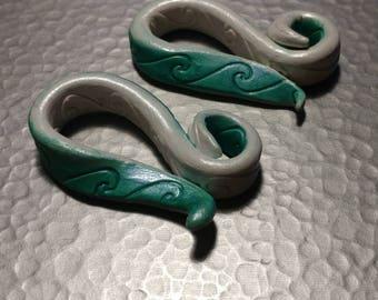 Ocean Waves tentacle earrings