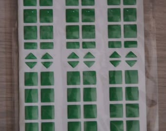 Mosaic stickers green plastic Board
