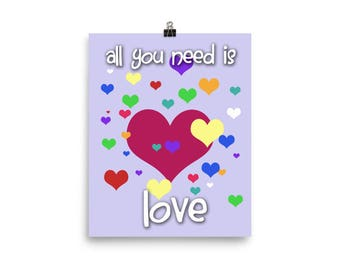 All You Need is Love - Beatles Nursery Wall Print