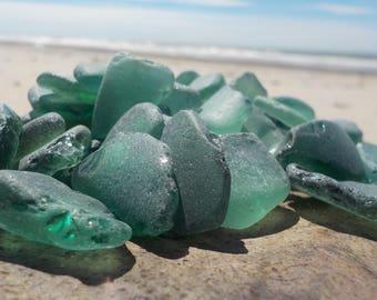 "50 pcs LIGHT Green shades Genuine Sea glass Bulk-Light green blue-Size 0.6-1""-Craft quality-For Jewelry Art-Home Decor#61B#"