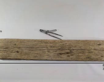 "Beautiful Aged Driftwood Shelf Supply 89cm/35"" Large Old Driftwood Plank With Rusty Nails ,Long Flat Driftwood , Driftwood Shelf Supply #4B"