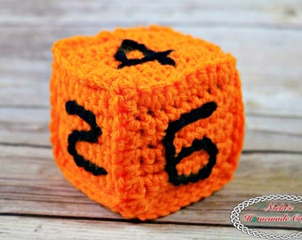 Crochet Pattern: Sturdy Numbered Die with Foam Block, ideal for kids OVER 3 years old, school kids, learn numbers, games