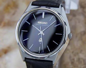Seiko Grand Quartz 1980 Mens Made in Japan Vintage Precision Original Watch Y138