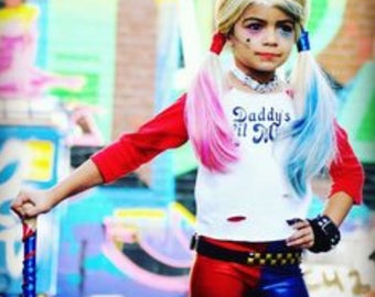Handmand Harley Quinn Outift for Children and Teenagers, Harley Quinn Costume, Halloween Costume