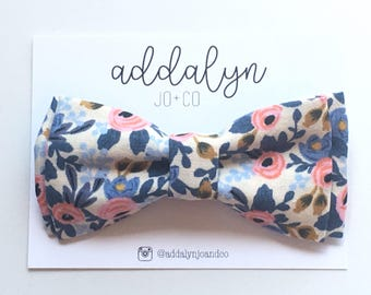 Periwinkle Bow Tie|Clip On Bow Toe|Rifle Paper Co