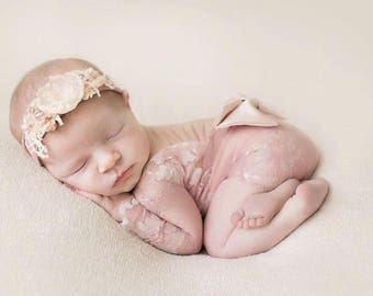 Newborn Girl Photo Outfit, Newborn Lace Romper, Photography Prop, Newborn Photo Outfit, Newborn Girl Props, Newborn Coming Home Outfit