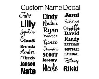 Name Vinyl Decal Etsy - Custom vinyl decals for crafts