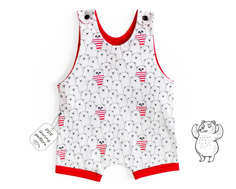 Short Leg Romper Sewing Pattern Pdf Baby Romper Pattern