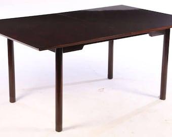 Edward Wormley for Dunbar knife edge dining table in Dark mahogany midcentury modern