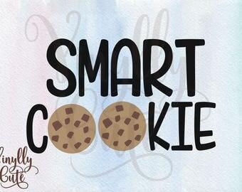 """SVG - """" Smart Cookie """"- Digital File Only - svg , png , jpg  back to school -SVG"""