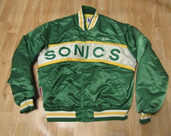 Vintage Seattle Sonics Starter Jacket 80s 1980s Large