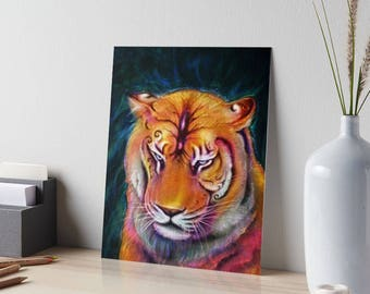 Tiger Art Print, Magical Tiger Digital Art Print, Tiger Fine Art Print, Bengal Tiger Art Print, Spirit Tiger Art Print