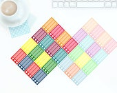 16 Multi-Coloured Bright OR Pastel Heart Half Checkbox Stickers for Erin Condren LifePlanner