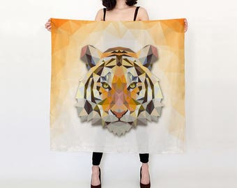 Bengal Tiger Square Scarf