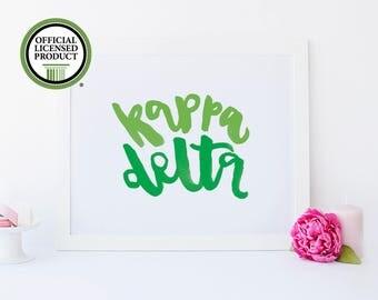 Kappa Delta Print - Kappa Delta Big Little - Big Little Sorority - Sorority Gifts - Big and Little Sorority - Kappa Delta Art - Kappa Delta