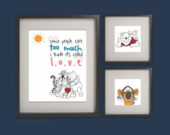 Winnie the Pooh, Quote, Digital Download, Instant Printable, Kids Room Wall Decor