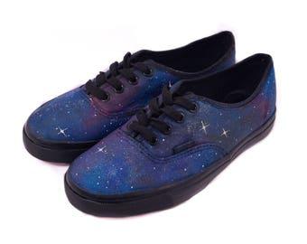Purple Blue Galaxy Shoes