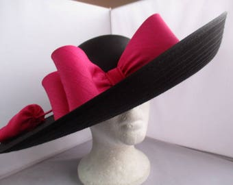 Wedding/asco/bridal CUSTOM Made  Hat.    SUPER WIDE. SIze- M m