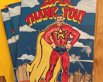 Super Thanks Blank Boxed Thank You Notes