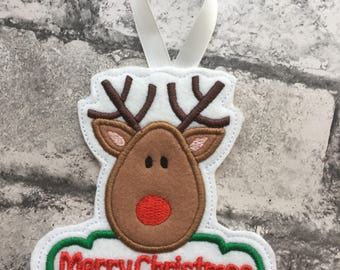 Hanging Christmas decorations embroidered detailed Christmas decorations