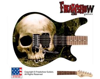SKULL Electric Guitar - Free US Shipping - Freakshow Guitars