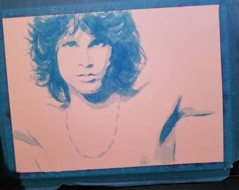 Original watercolor Jim Morrison Painting