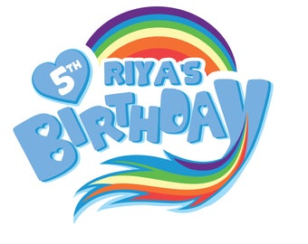 Personalized Rainbow Dash My Little Pony Logo for Birthdays, transfer ons , cake toppers, and much more!
